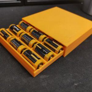 Battery Case mit Rasten, 3D-Druck, eigenes Design.