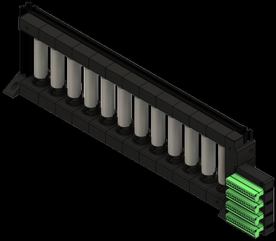 CAD eines Messedemonstrators zur Praesentation von Akku Ladetechnologien. Rueckansicht. Design durch InfinityLoop.